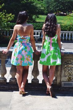 I am going to make a couple of cute dresses with Lilly fabrics just like this!