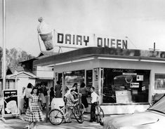 1957)*^^^^ - Opening day in 1957 at the Dairy Queen located at 11334 Moorpark Street (at the southwest corner of Elmer) in Studio City, now the site of the Girasol Restaurant.