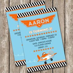 Disney Planes Birthday Invitation - Disney Planes Birthday Party - DIY Printable on Etsy, $10.00
