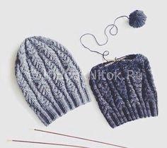 Серая шапочка и снуд | Вязание для девочек | Вязание спицами и крючком. Схемы вязания.