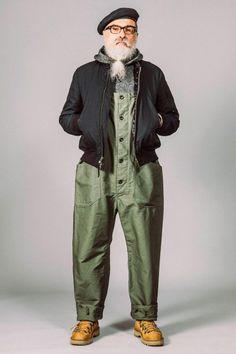 Male Fashion Trends: Engineered Garments Fall-Winter 2017 - New York Fashion Week Men's Look Fashion, Winter Fashion, Fashion Show, Mens Fashion, Fashion Trends, Americana Vintage, Estilo Hippie Chic, Estilo Denim, Engineered Garments