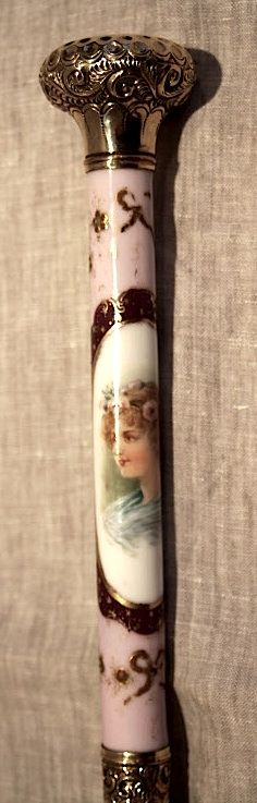 Victorian Porcelain Dress Walking stick