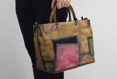 Handmade Leather handbag shoulder bag for women leather shopper bag   EverHandmade