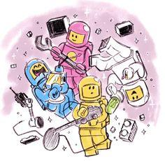 loooots of legos Lego Film, Lego Movie 2, Lego Wallpaper, Amazing Lego Creations, Drawing Ideas, Drawing Tips, Lego Batman, Lego Brick, Lego Ninjago