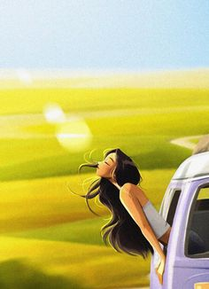 Nature Lover, Girly Art, Animation Art, Dreamy Art, Art Girl, Anime Scenery, Art, Digital Art Girl, Landscape Art