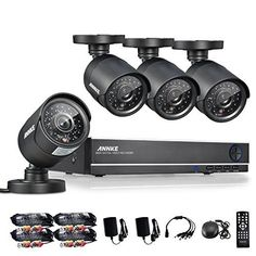 All in One: Amazing 8CH 1080P Onvif NVR 960H DVR w/ 800TVL Weatherproof Cameras 800TVL HD professional cameras High quality weatherproof metal bullet camera provide a crisp, clear, and smooth image utilizing 800 TV-lines of resolution. Perfect remote access and … Read More #homesecuritysystemapp