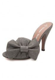 Vivienne Westwood shoes. Grey, bow, slipper style? This is the shoe of my dreams...