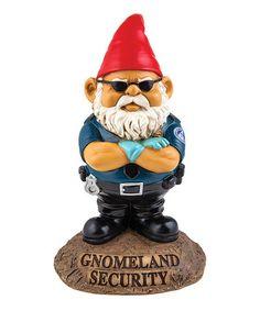 Loving this Gnomeland Security Garden Décor on #zulily! #zulilyfinds