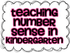 Teaching Number Sense in K!