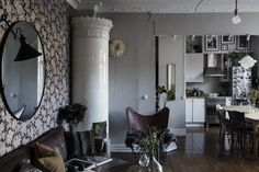 A Delightfully Moody Swedish Apartment That Rejects Minimalist Scandi-Style
