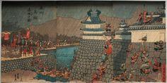 歌川貞秀 1852_奥州高館落城の図