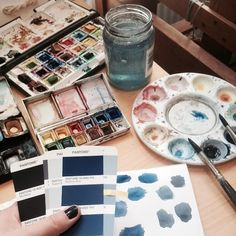 Trying to get the right shade of blue #stinelinnemannstudio