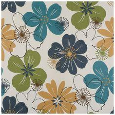 Tecido de ca murça floral multicolorida - tecdec