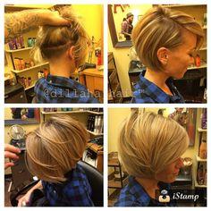 "640 Likes, 98 Comments - Julie Foronda (@julia_foronda) on Instagram: ""#undercut #clippercut #shaved #bobcut #redken thanks homie 💁💇"""