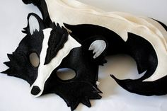 Stanley+and+Stella+Stinker+Skunk+Felt+and+Tail+by+HuntingFaeries,+$38.00