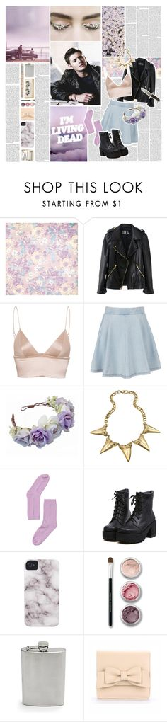 """Only Alive When I Pretend"" by crystaldollhouse ❤ liked on Polyvore featuring Edition, BasicGrey, T By Alexander Wang, Topshop, Allison Daniel, Monki, Bare Escentuals, CHINOOK, Magenta and supernatural"
