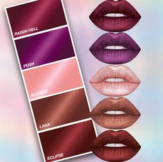 Top Makeup Accessories For The Professional Lipstick Shades, Lipstick Colors, Lip Colors, Bold Lipstick, Makeup Dupes, Makeup Cosmetics, All Things Beauty, Beauty Make Up, Body Makeup