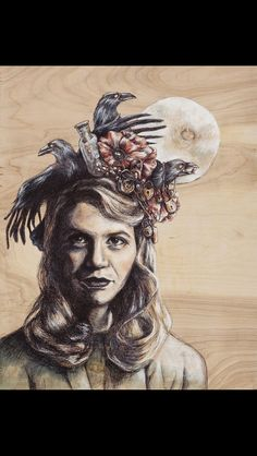 Drawing of sylvia plath with explanation followed after