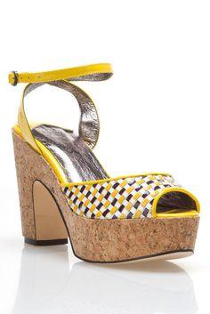 NYLA Clair Sandal In Yellow So cute
