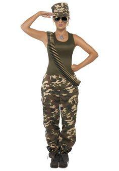 Awesome Uniform Costumes - Female Khaki Camo Costume just added...