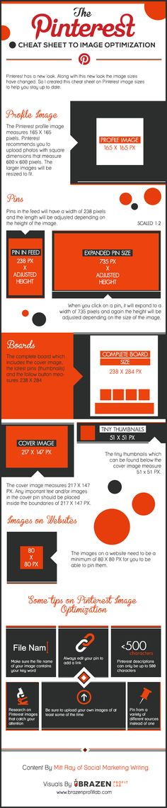 #Infographic: Pinterest Optimal Image Size Cheat Sheet - Brazen Profit Lab