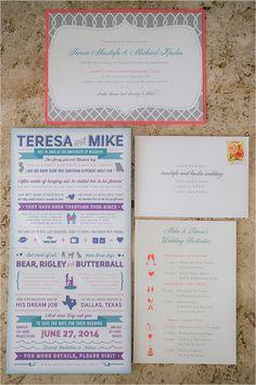 illustrated wedding stationery | wedding infographic ideas | destination wedding | #weddingchicks
