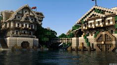 Minecraft Castle Render mathieu legault cinema 4d the chunk reinhart