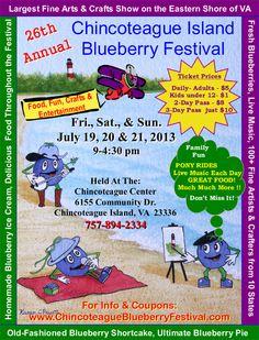 Chincoteague Island Blueberry Festival 2013
