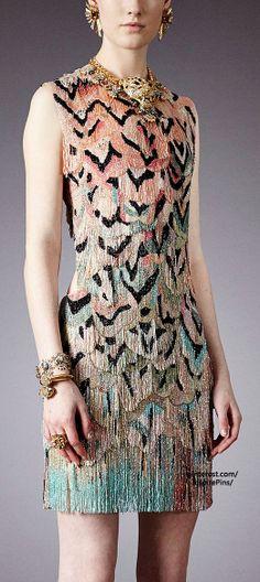 Amazing patterned cocktail dress - Pre-Fall 2014 Roberto Cavalli (lookbook)