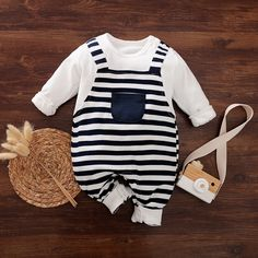 Striped Cotton One-piece Baby Baby Boy, noteforbeauty Newborn Boy Clothes, Baby Outfits Newborn, Cute Baby Clothes, Baby Boy Outfits, Babies Clothes, Baby Boy Fashion, Toddler Fashion, Kids Fashion, Boys Clothes Online