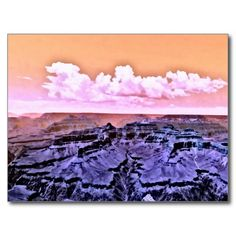 Grand Canyon National Park Dramatic Painted Scene Postcard