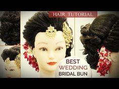 Best Wedding Bun Hair Style Tutorial | Step by Step Perfect Bridal Bun Hair Tutorial Video - YouTube