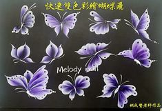 One Stroke Painting, Acrylic Painting Techniques, Tole Painting, Acrylic Painting Canvas, Diy Painting, Butterfly Art, Flower Art, Donna Dewberry Painting, Nail Art For Kids