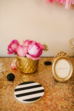 Sequins & stripes #katespade photo by lauren rae photography http://www.theperfectpalette.com/2014/01/a-chic-and-swanky-kate-spade-inspired.html