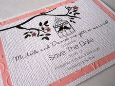 Birdcage Save The Date Cards  By Paper Delights www.weddingstationery.co.uk