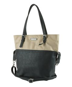 Sand & Black Tokyo Tote by Kenneth Cole Reaction