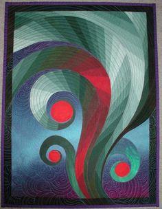 Feather Study, quilt - Caryl Bryer Fallert.