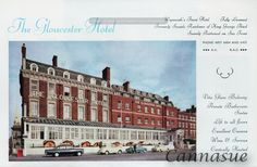 1969 gloucester Hotel, the old holiday home of George III.'Sunnily positioned on the seafront.' Weymouth tourism. Now apartments.