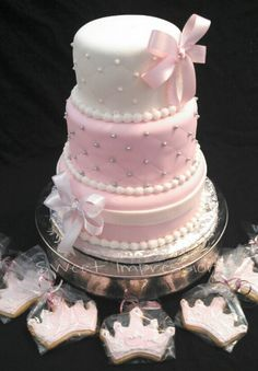 Princess Themed Baby Shower Cake And Cookies