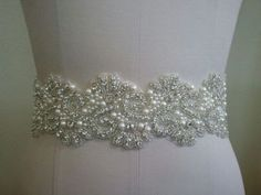Hey, I found this really awesome Etsy listing at https://www.etsy.com/listing/191702139/wedding-handmade-bridal-sash-with-pearls