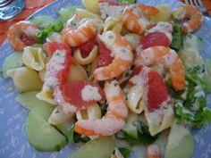 Salade de crevettes, pamplemousse et pâtes (4 points ww)