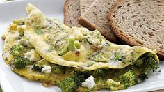 Broccoli & Feta Omelet with Toast | From turkey burgers to banana smoothies, these simple calorie-burning recipes will help you lose weight fast.