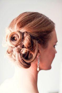 Simple Bridal hairdo