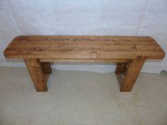 BRAND NEW Retro Handmade Wooden Bench Many Colours. Unique