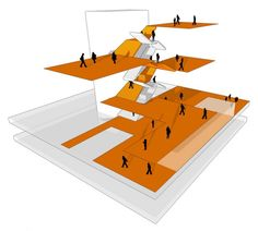 circulation diagram 640x575 Atelier Thomas Pucher: Amstetten School Campus