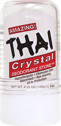 Thai Crystal Deodorant Stone (I recently purchased this. So far, a waste...doesn't appear to do anything at all)