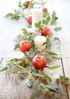 This Edible Fall Wedding Decor Trend Is Surprisingly Not Orange via Brit + Co