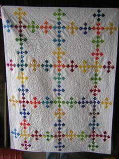 double nine patch whole quilt.