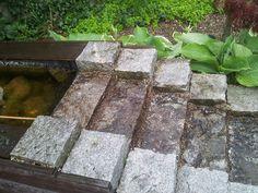 Bestratingen Japanse tuin Natuurlijke vijver met trap Pergola's Schanskorven Strakke moderne stijl met vijver Overige Trap, Firewood, Stepping Stones, Zen, Texture, Garden, Outdoor Decor, Crafts, Home Decor