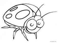 Printable Bug Coloring Pages For Kids Insect Coloring Pages, Coloring Pages For Kids, Lady Bug, Bugs, Creepy, Sketches, Printables, Fictional Characters, Art